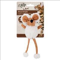 Brinquedo Afp Rato Dangler com Catnip para Gatos - Branco