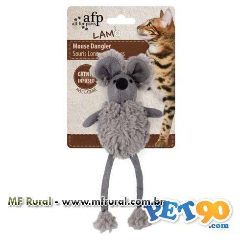Brinquedo Afp Rato Dangler com Catnip para Gatos - Cinza