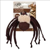 Brinquedo Afp Ping Pong Aranha com Catnip para Gatos - Marrom