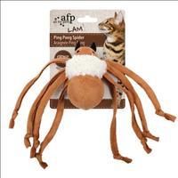 Brinquedo Afp Ping Pong Aranha com Catnip para Gatos - Branco