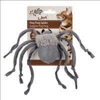 Brinquedo Afp Ping Pong Aranha com Catnip para Gatos - Cinza