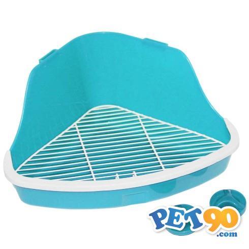 Banheiro Pawise de Canto para Roedores - Azul Banheiro Pawise de Canto para Roedores Azul -  Tam. G