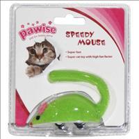 Brinquedo Rato Pawise de Fricção para Gatos - Verde