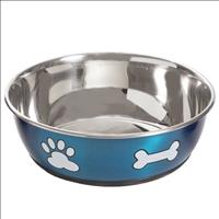 Comedouro Jambo Azul Metálico para Cães - Tam. 2