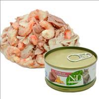 Ração Farmina N & D Úmida de Atum e Camarão para Gatos - 70 g
