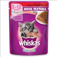 Ração Whiskas Sachê Jelly Carne para Gatos Filhotes - 85gr