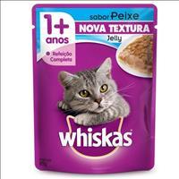Ração Whiskas Sachê Jelly Peixe para Gatos Adultos - 85gr