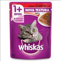 Ração Whiskas Sachê Jelly Carne para Gatos Adultos - 85gr