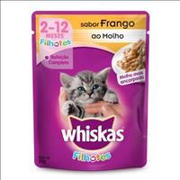 Ração Whiskas Sachê Frango para Gatos Filhotes - 85gr