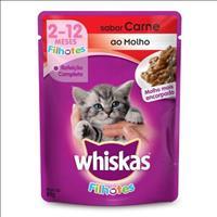 Ração Whiskas Sachê Carne para Gatos Filhotes - 85gr