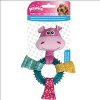 Brinquedo Mordedor Pawise Hipopótamo de Pelúcia e Borracha