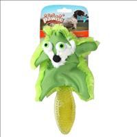 Brinquedo Raposa Pawise de Pelúcia e Borracha - Verde Brinquedo Raposa Pawise de Pelúcia e Borracha