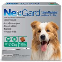 Anti Pulgas e Carrapatos Merial NexGard 68 mg para Cães de 10,1 a 25 Kg - 1 Tablete