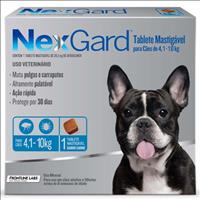 Anti Pulgas e Carrapatos Merial NexGard 28,3 mg para Cães de 4,1 a 10 Kg - 1 Tablete