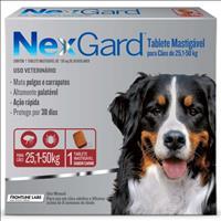 Anti Pulgas e Carrapatos Merial NexGard 136 mg para Cães de 25,1 a 50 Kg - 1 Tablete