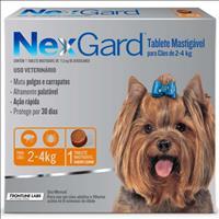 Anti Pulgas e Carrapatos Merial NexGard 11,3 mg para Cães de 2 a 4 Kg - 1 Tablete