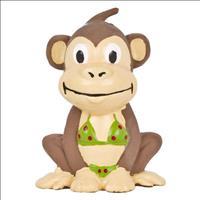 Brinquedo Duki Macaco de Latex Go Wild - Marrom