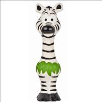 Brinquedo Duki Zebra de Latex Go Wild - Preta e Branca