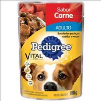 Ração Pedigree Sachê Carne ao Molho para Cães Adultos - 100 g