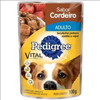 Ração Pedigree Sachê Cordeiro ao Molho para Cães Adultos de Raças Pequenas - 100 g