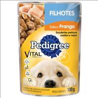 Ração Pedigree Sachê Frango ao Molho para Cães Filhotes - 100 g