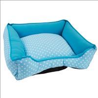 Cama Baw Waw Luxo para Cães - Azul com Poá Branco Cama Baw Waw Luxo para Cães Azul com Poá Branco -