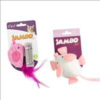 Kit Brincadeira Jambo para Gatos com 2 Brinquedos