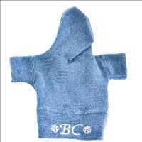 Blusão Bichinho Chic Capuz Azul - Tam. 01