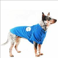 Blusa Fleece Dog Pickorruchos Azul - Tam.06