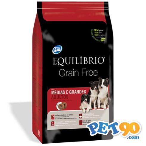 Ração Total Equilibrio Grain Free para Cães Adultos de Raças Médias e Grandes - 2 Kg