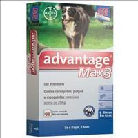 Anti Pulgas e Carrapatos Bayer Advantage MAX3 com 4 mL para Cães Acima de 25 kg Anti Pulgas e Carrap