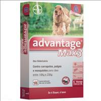 Anti Pulgas e Carrapatos Bayer Advantage MAX3 com 2,5 mL para Cães - de 10 kg a 25 kg