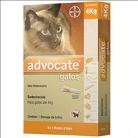 Anti Pulgas Bayer Advocate com 0,4 mL para Gatos Até 4kg Anti Pulgas Bayer Advocate com 0,4 mL para