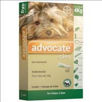 Anti Pulgas Bayer Advocate com 0,4 mL para Cães até 4kg Anti Pulgas Bayer Advocate com 0,4 mL para C