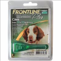 Anti Pulgas e Carrapatos Frontline Plus para Cães de 10 a 20 Kg Tam M Anti Pulgas e Carrapatos Front