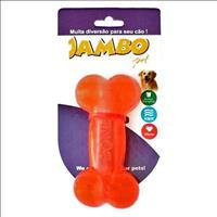 Brinquedo Jambo Bone Osso Transparente - Vermelho