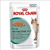 Ração Royal Canin Sachê Feline Health Nutrition Instinctive +7 para Gatos Adultos - 85 g
