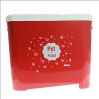 Porta Ração Pet Love para Armazenar até 15kg - Vermelho