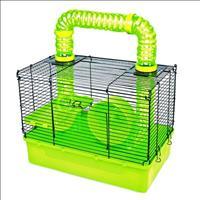 Gaiola Pawise para Hamster com Túnel e Roda - Verde