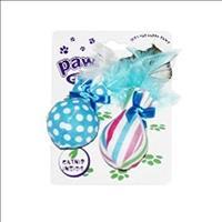 Brinquedo Pawise Bola e Pena de Catnip - Azul