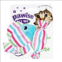 Brinquedo Pawise Doce e Peixe de Catnip - Cores Variadas