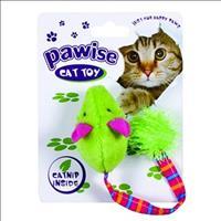 Brinquedo Pawise Rato de Pelúcia Rabo Comprido com Catnip - Cores Variadas