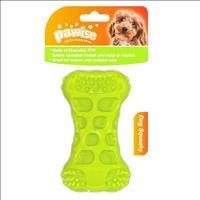 Brinquedo Pawise Osso de Borracha com Apito  - Verde Brinquedo Pawise Osso de Borracha Verde com Api