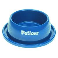 Comedouro ou Bebedouro Pet Love Plástico Anti-Formiga Azul para Gatos - 350 mL