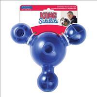 Brinquedo Interativo Kong Satellite Treat com Dispenser para Ração ou Petisco Pd2 - Azul