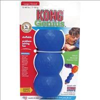 Brinquedo Interativo Kong Genius Mike com Dispenser para Ração ou Petisco - Azul Brinquedo Interativ