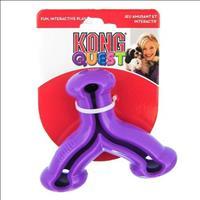 Brinquedo Interativo Kong Quest Wishbone com Dispenser para Petisco - Roxo Brinquedo Interativo Kong