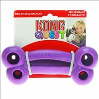 Brinquedo Interativo Kong Quest Bone com Dispenser para Petisco - Roxo Brinquedo Interativo Kong Que