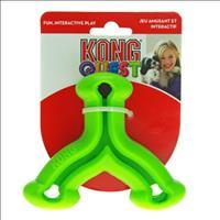 Brinquedo Interativo Kong Quest Wishbone com Dispenser para Petisco - Verde Brinquedo Interativo Kon