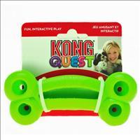 Brinquedo Interativo Kong Quest Bone com Dispenser para Petisco - Verde Brinquedo Interativo Kong Qu